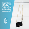 'C Hooks' For Closet Organization 2-Pack, Champagne Gold Color