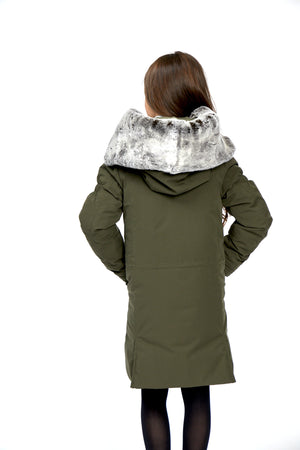 girls winter parka, KHAKI