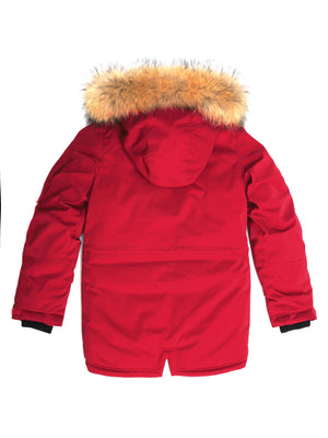 boys parka, RED