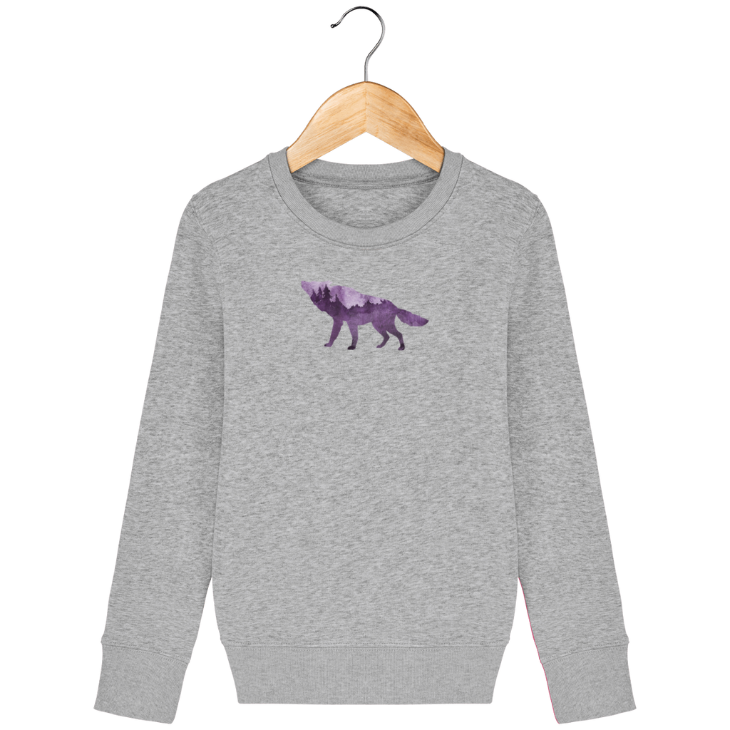 NORDIC SONG kids sweat shirt, grey heather, round neck, 300 gr