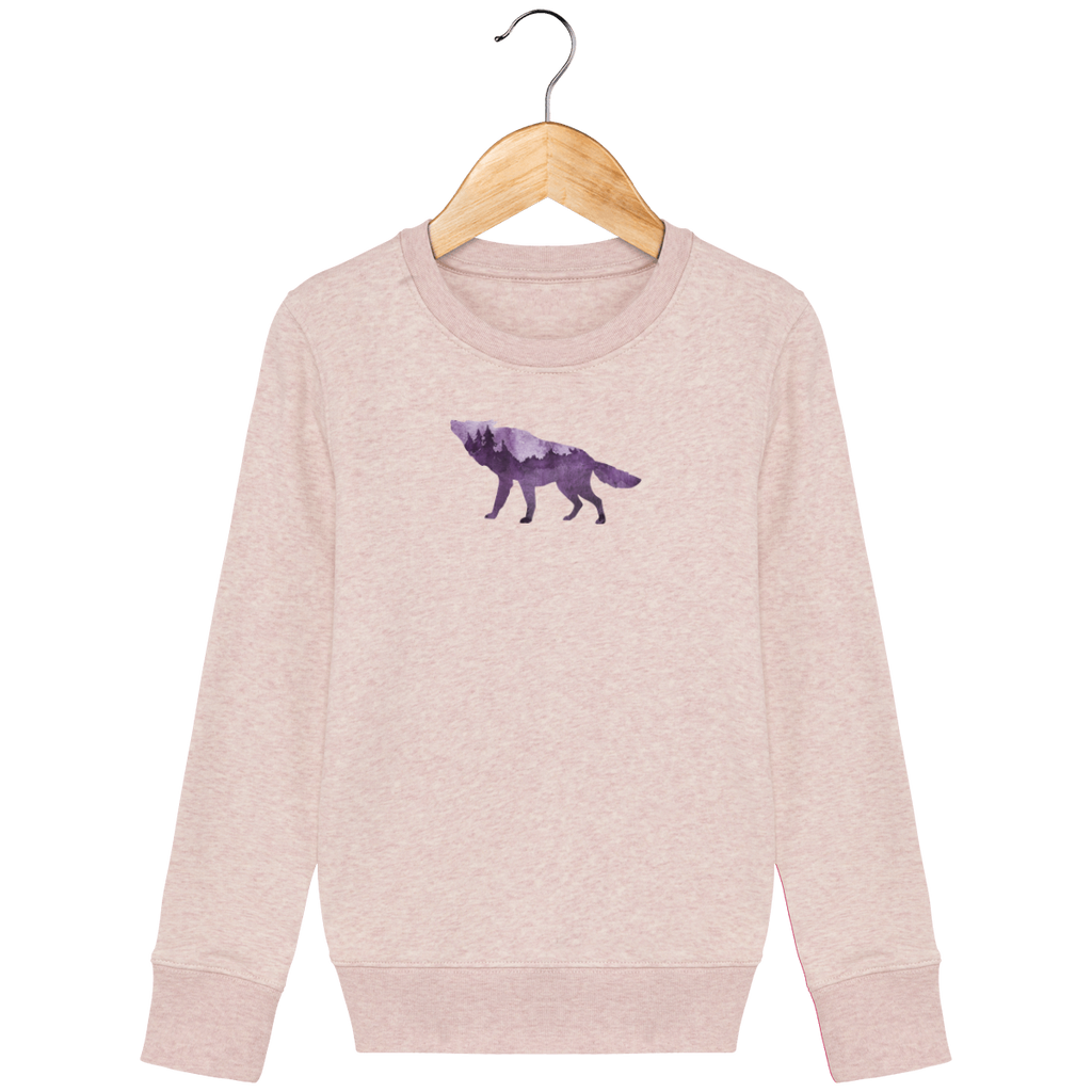 NORDIC SONG kids sweat shirt, light rose, round neck, 300 gr