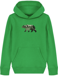 NORDIC SONG kids sweatshirt, hooded, spring green, 300 gr