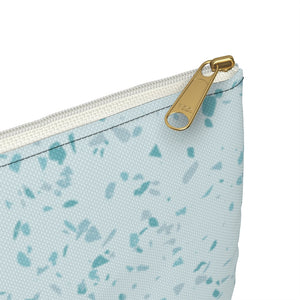 CUSTOMIZABLE L-Pouch, SKY BLUE STONE, with contrast  print