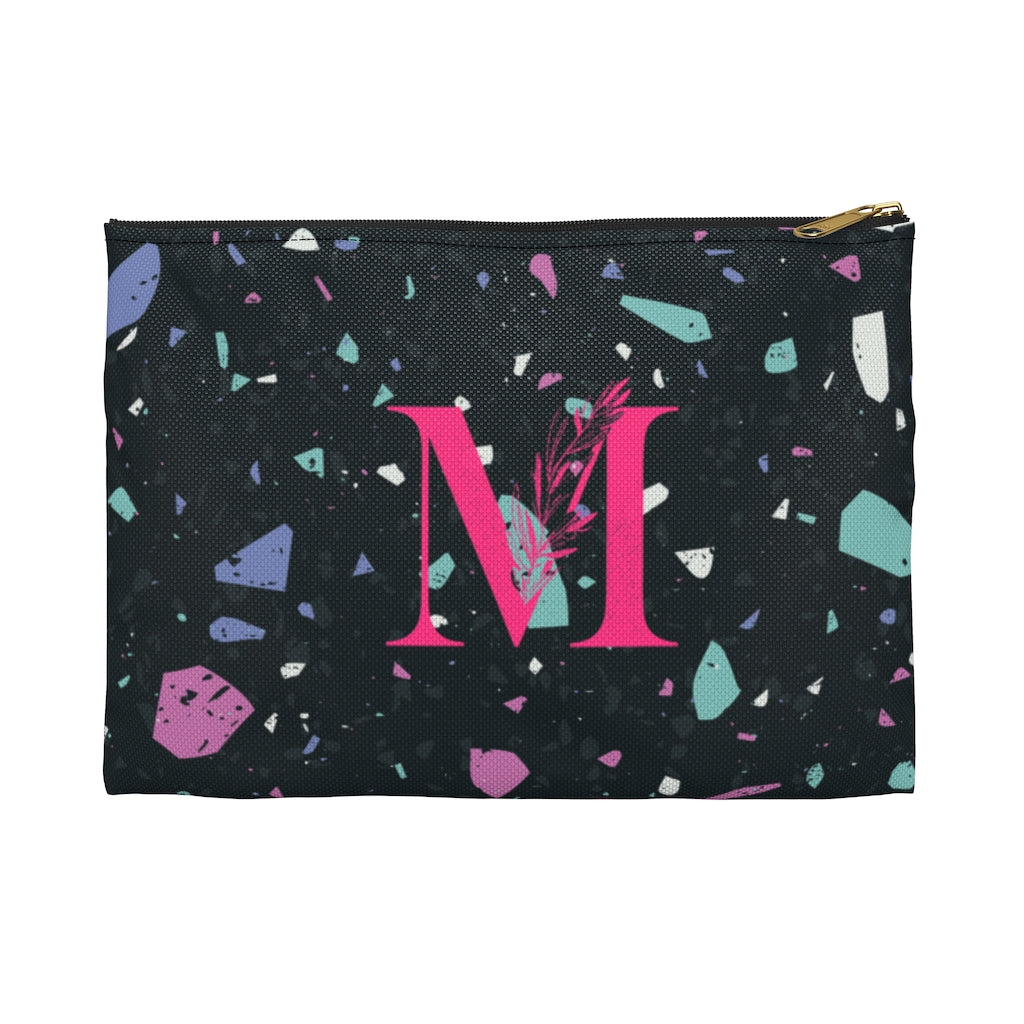 CUSTOMIZABLE S-Pouch, BLACK ROSE, with contrast print