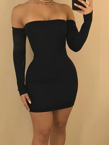 Women's Lace up  Bodycon Sheath Dress