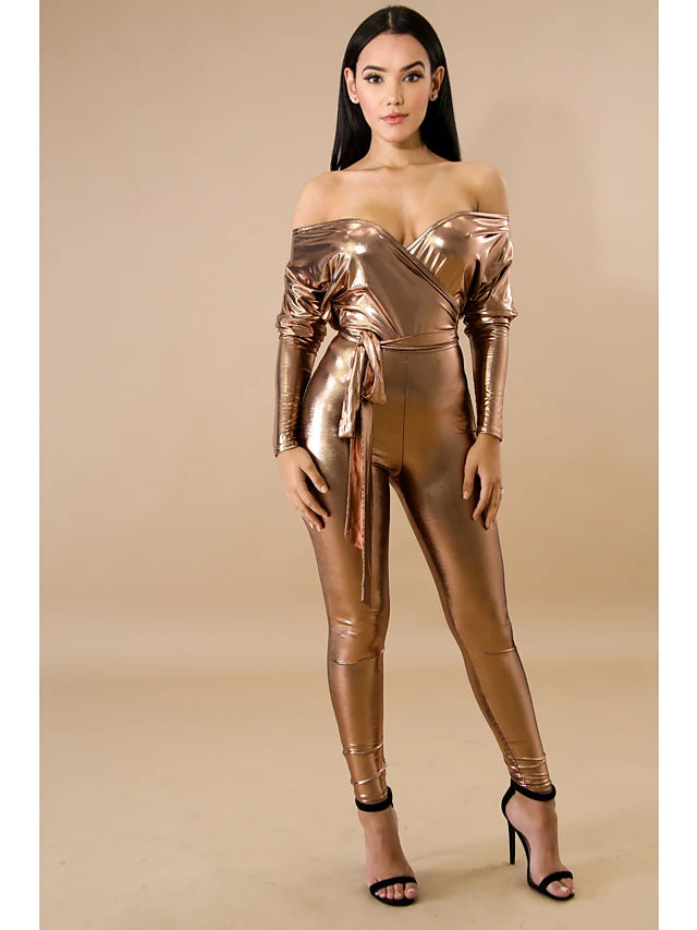 Chic Gold Jumpsuit