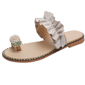 Pearl Flat Bohemian Style Lady Casual Sandals