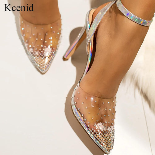 Transparent high heels sandals