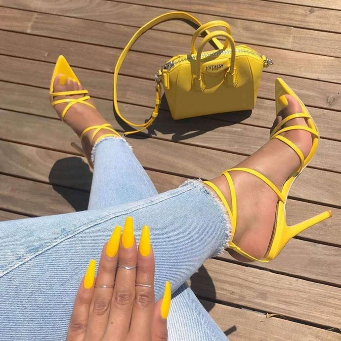 Sexy Pointed Fish Mouth Sandals