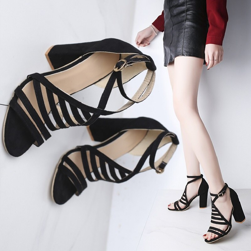 Transparent Sandals Gladiator High Heels