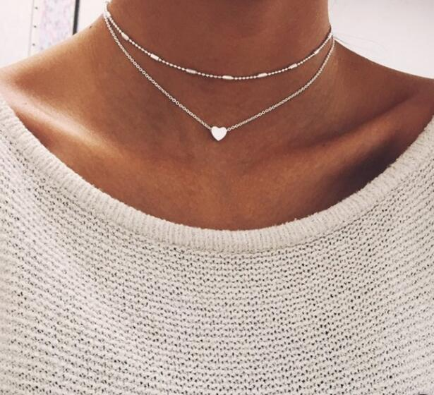 Simple Heart Multi-layer Necklace