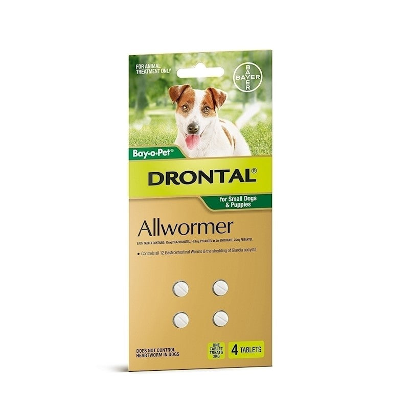 Drontal Allwormer Small Dog and Puppy - 4 Tablets