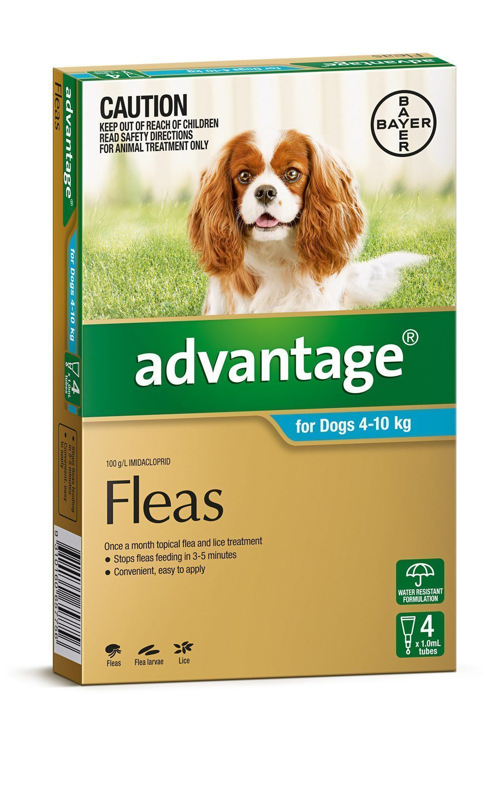 Advantage Medium dog flea control 4pk