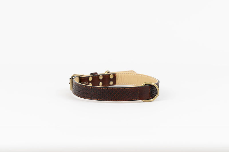 Luna Pebbled Leather Collar