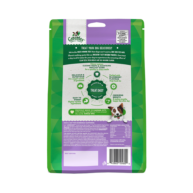 Greenies Blueberry Flavour Petite Dog Dental Treats 340g
