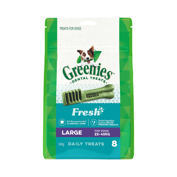 Greenies Blueberry Flavour Large Dog Dental Treats 340g