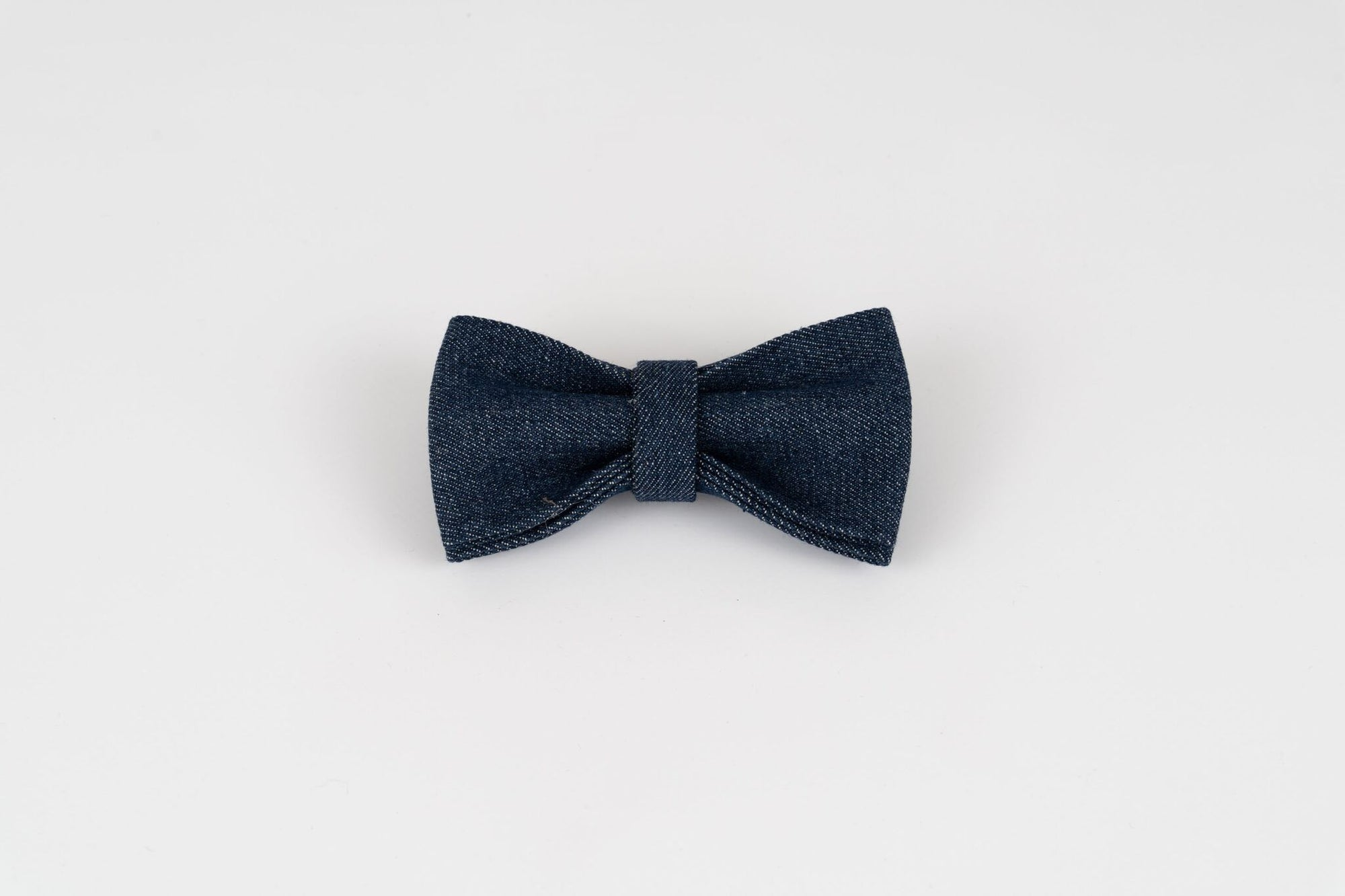 Navy Denim Dog Bow Tie