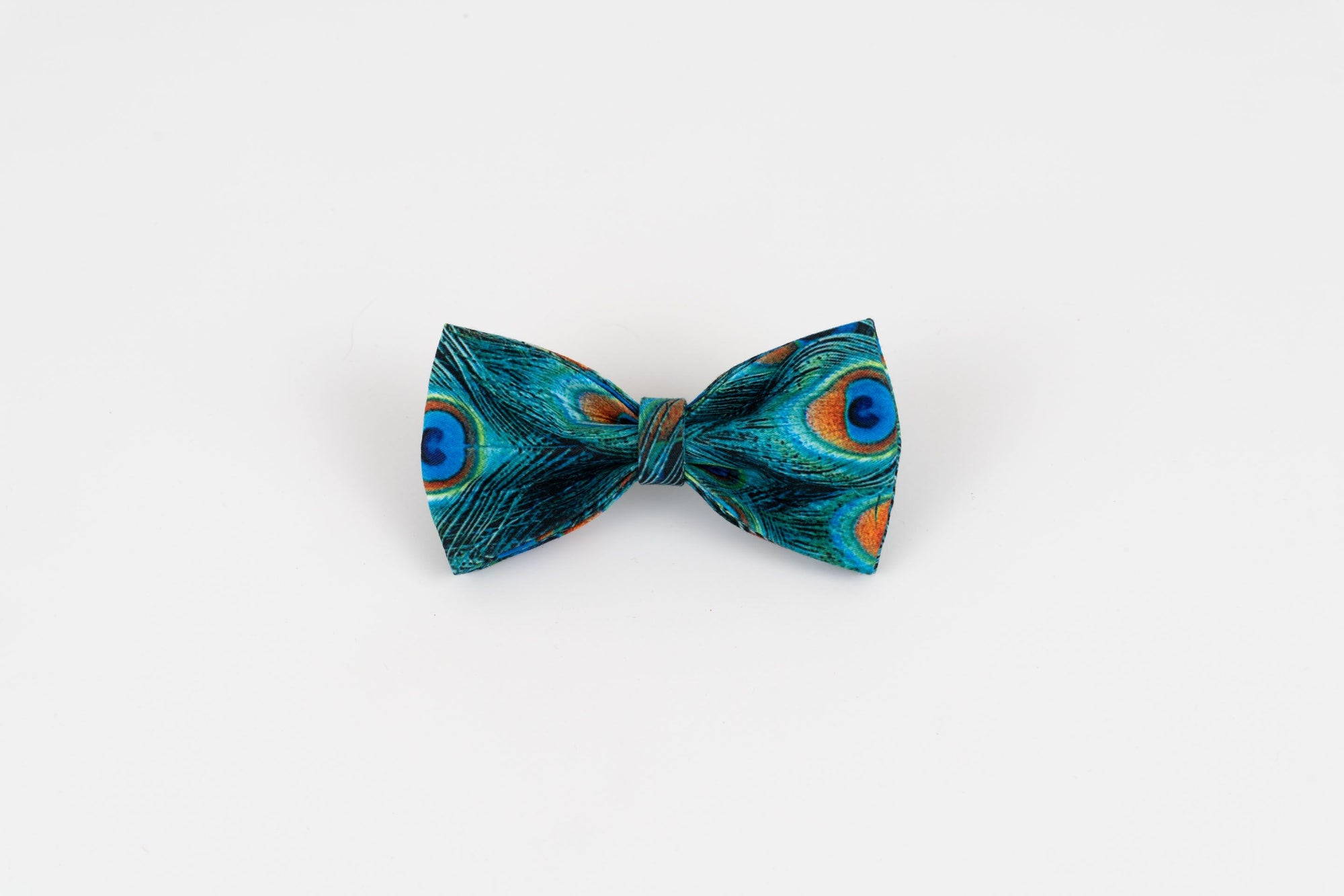 Peacock Dog Bow Tie