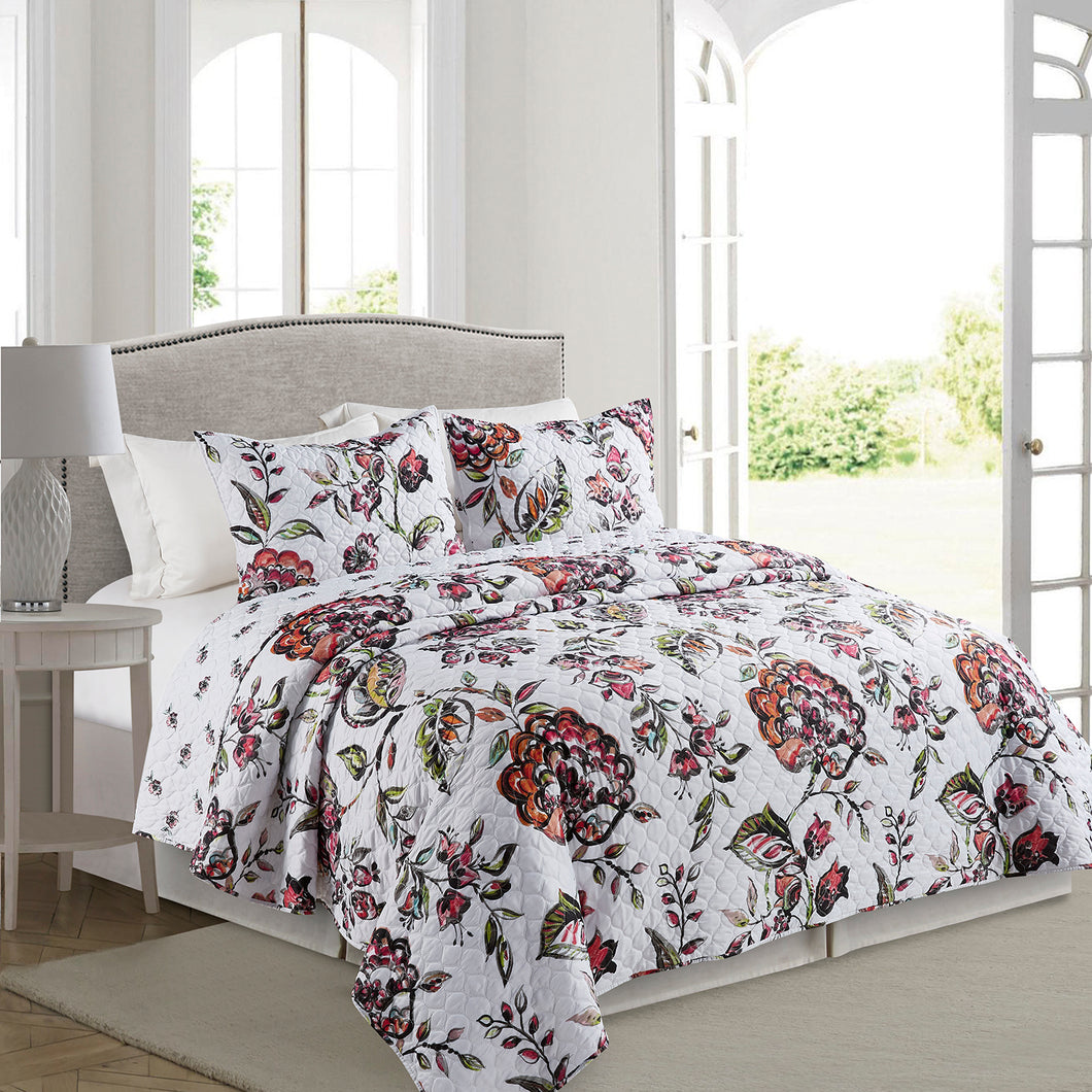 Pauline Microfiber Quilt Set - Elise and James Home