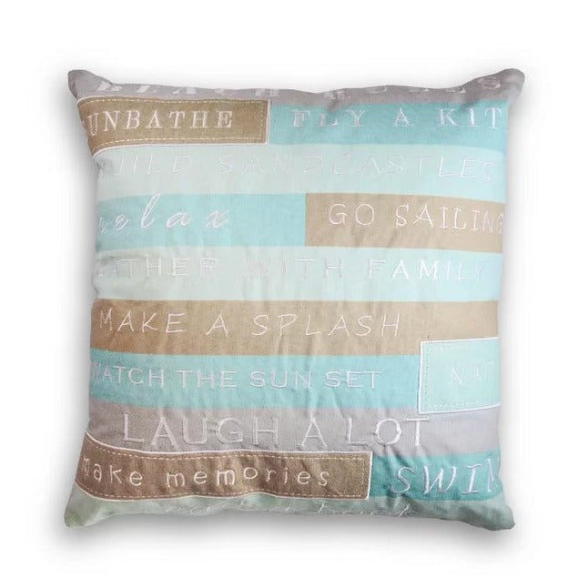 Beach Rules Pillow - Elise and James Home