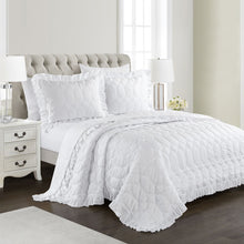 Load image into Gallery viewer, Freya Antimicrobial, Ultra-Soft, Easy Care 3pc Quilt/Coverlet Set - White