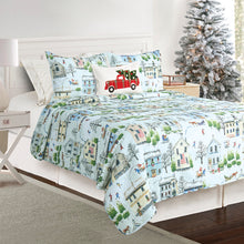 Load image into Gallery viewer, Holiday Joy Microfiber Quilt Set