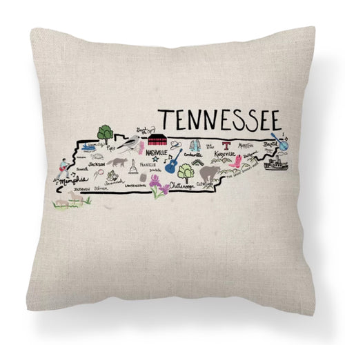 Tennessee Decorative Pillow - Elise and James Home