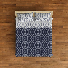 Load image into Gallery viewer, Tilly Microfiber Quilt Set - Navy