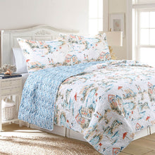 Load image into Gallery viewer, Beach Club Antimicrobial, Reversible, Ultra-Soft Coastal Quilt Set