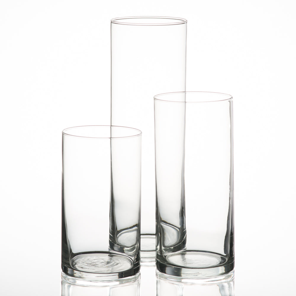 Eastland Cylinder Vase/Candle Holder Set of 12 (3 Sizes)
