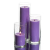 Eastland Cylinder Vases & Richland Pillar Candles Set of 12