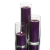 Eastland Cylinder Vases & Richland Pillar Candles Set of 24