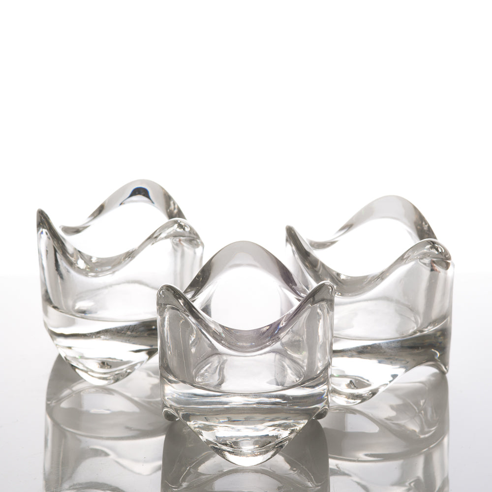 Richland Clear Swirl Top Votive Holders