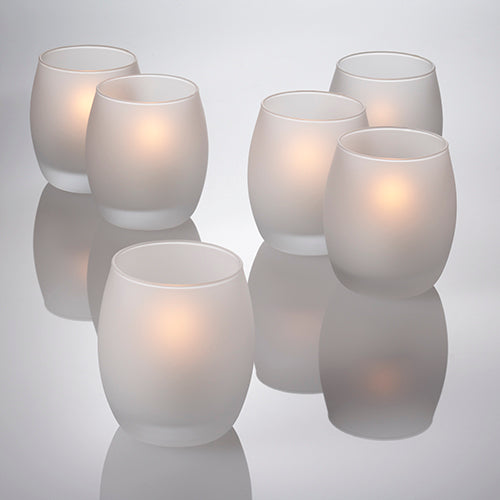 Eastland Frosted Grande Hurricane Votive Holders