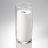 "Richland Pillar Candle 6"" + Eastland Cylinder Holder 7.5 inch Set of 12"