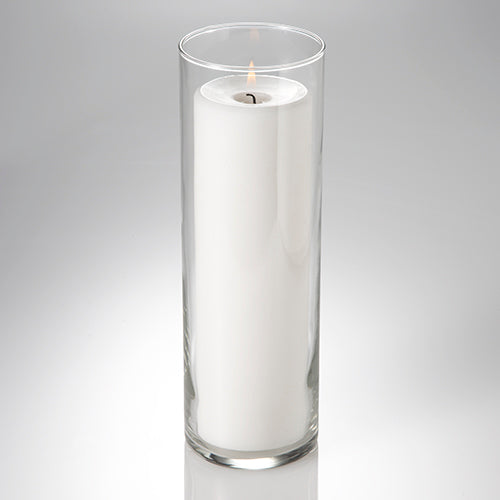 "Richland Pillar Candle 9"" + Eastland Cylinder Holder 10.5 inch Set of 12"