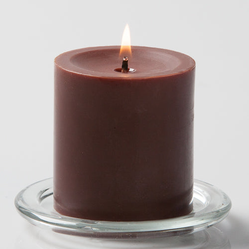 Richland Brown Church Pillar Candle
