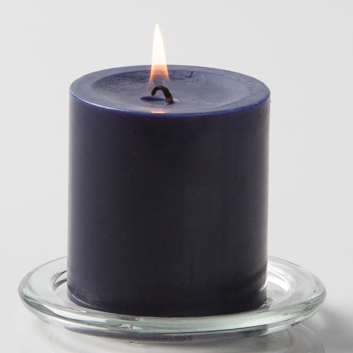 Richland Navy Blue Church Pillar Candle