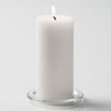 Richland Pillar Candle 6 inch + Eastland Cylinder Holder 7.5 inch Set of 12