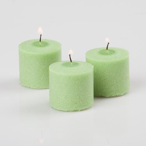 Richland Green Vanilla Lime Scented Votive Candle