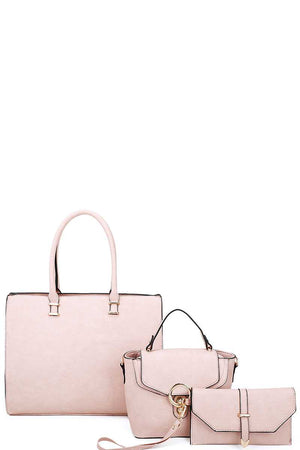 3in1 Fashion Tote Crossbody And Clutch Set