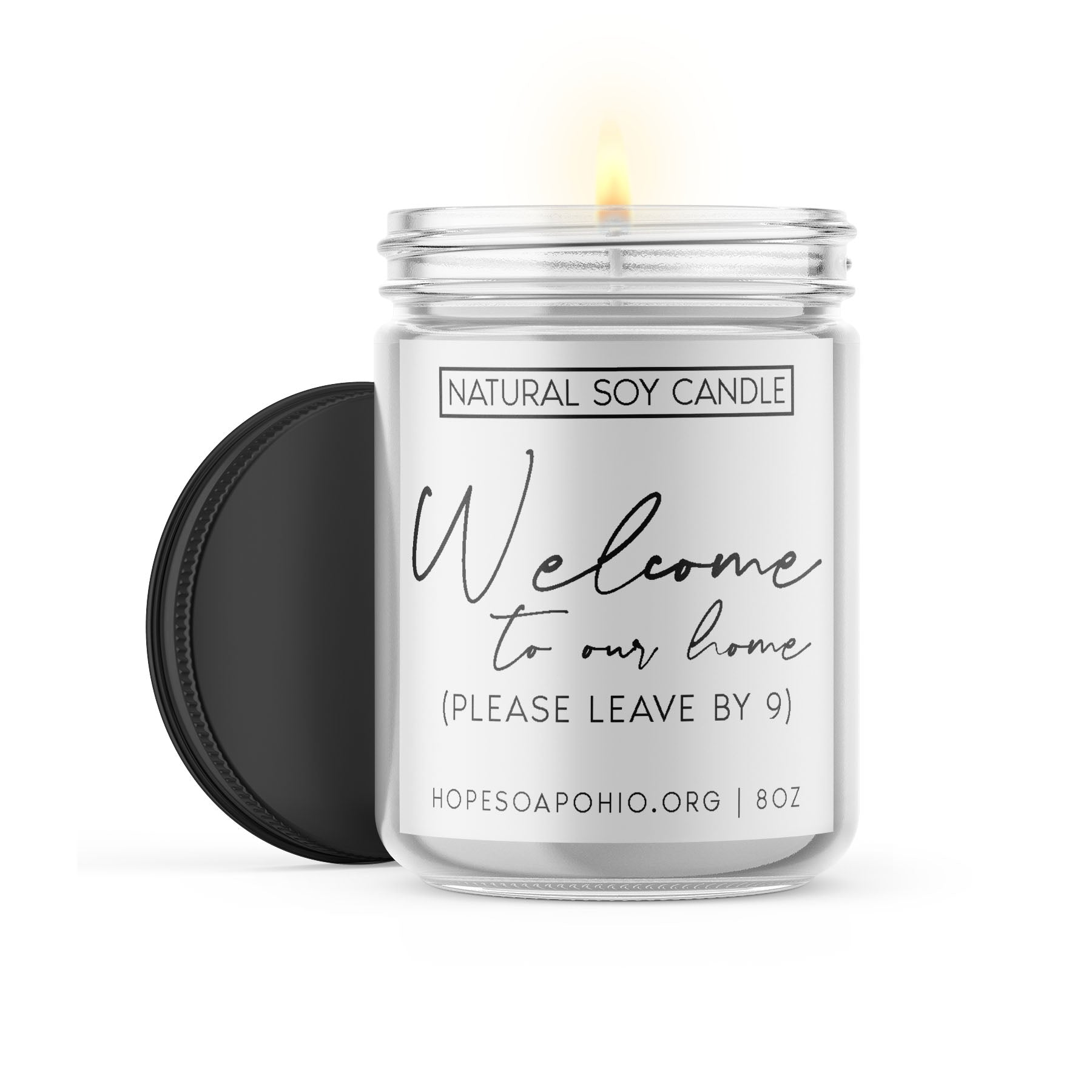 Welcome to our home candle - HOPESOAPOHIO