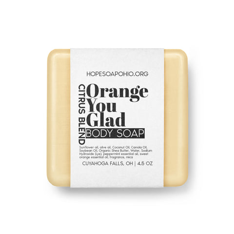 Orange You Glad Body Soap - HOPESOAPOHIO