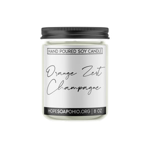 Orange Zest and Champagne Candle - HOPESOAPOHIO
