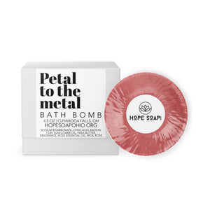Petal To The Metal Bath Bomb - HOPESOAPOHIO