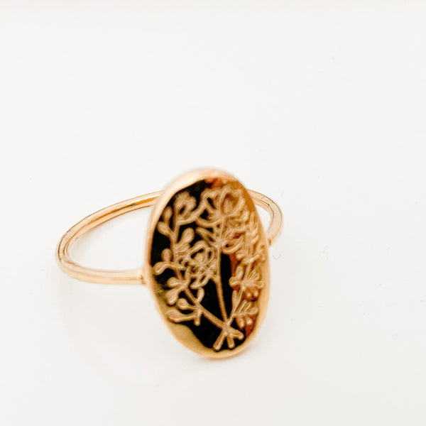 Gold Wildflower Ring