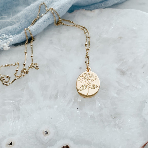 Botanical Necklace Collection- Lily PRE-ORDER