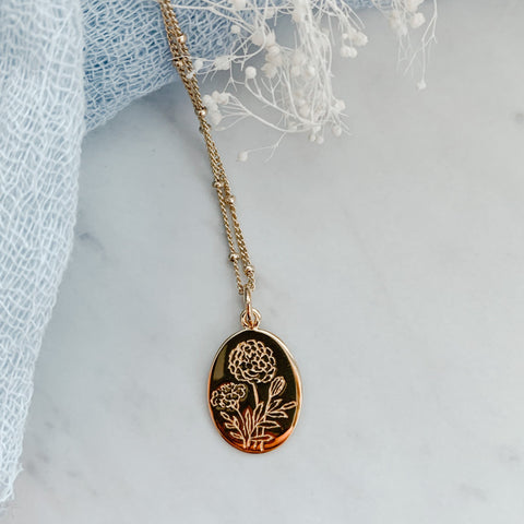 Botanical Necklace Collection- Marigold