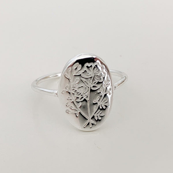 Silver Wildflower Ring