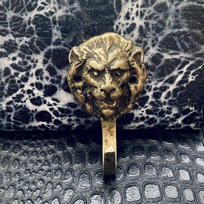 Brass Lion Wall Hook
